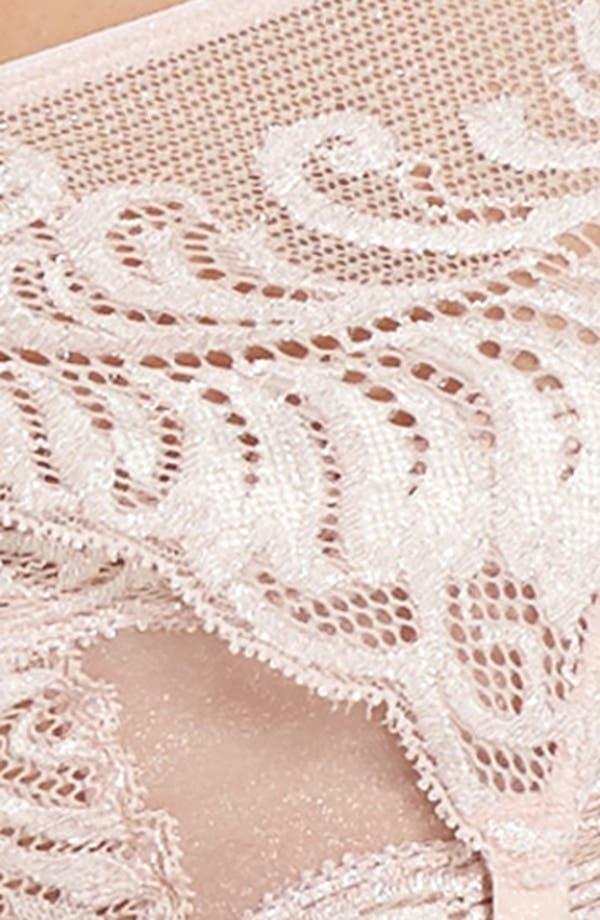 Feathers Garter Belt,                             Alternate thumbnail 7, color,                             Shell Shine