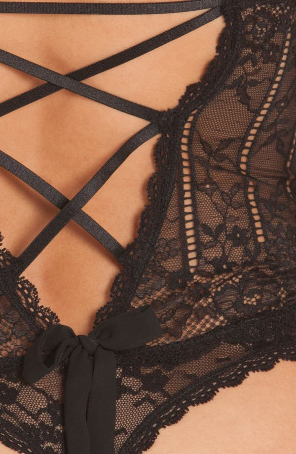Alternate Image 4  - In Bloom by Jonquil Livia Lace Thong Teddy