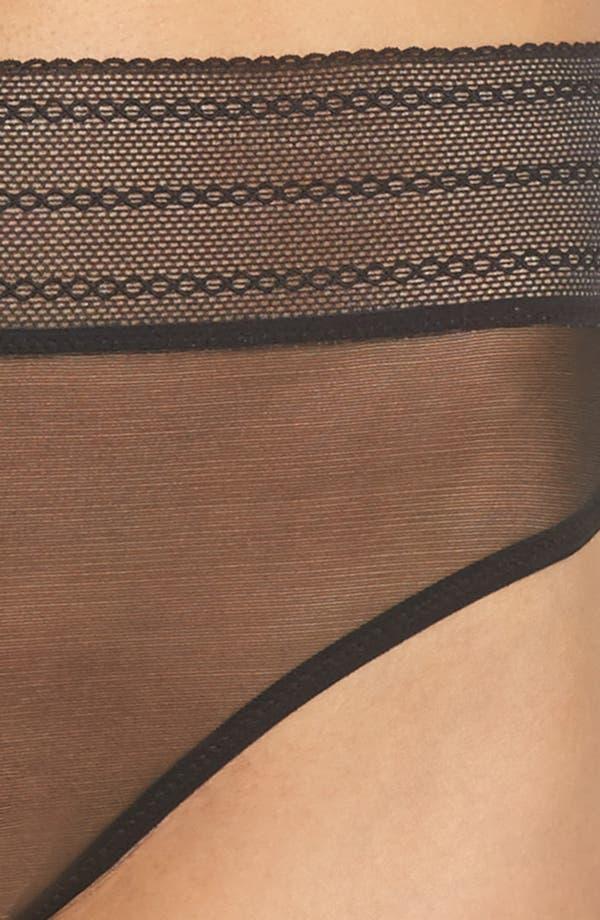 Bare Mesh Thong,                             Alternate thumbnail 9, color,                             Black