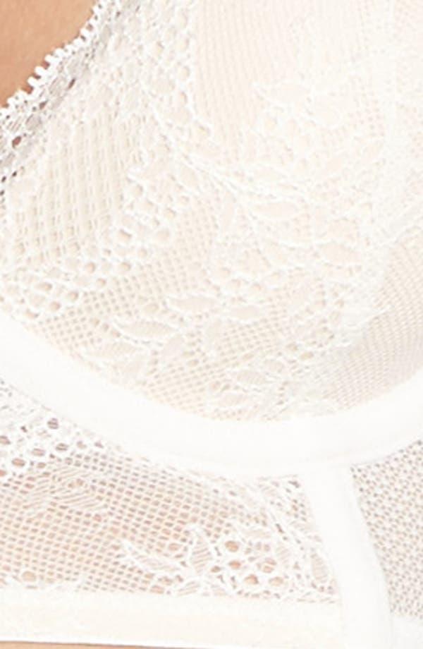 Alternate Image 9  - Betsey Johnson Lacy Glam Underwire Longline Bra