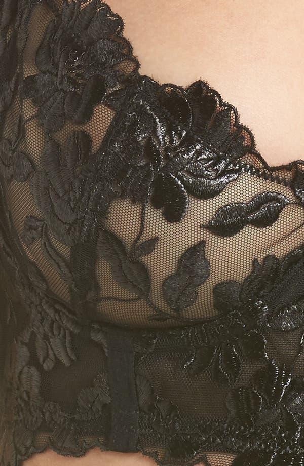 Celia Longline Underwire Bra,                             Alternate thumbnail 9, color,                             Black