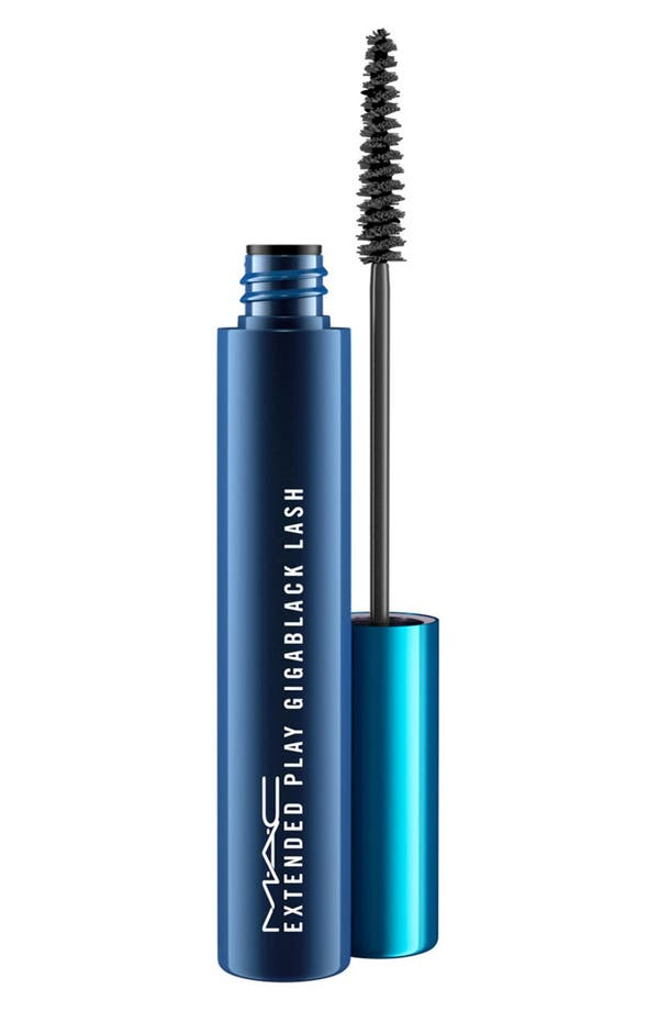 MAC Extended Play Gigablack Lash Mascara,                             Main thumbnail 1, color,                             Extended Play Gigablack