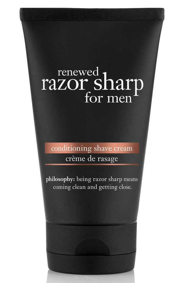 'renewed razor sharp' cleansing shave cream for men,                             Main thumbnail 1, color,                             No Color