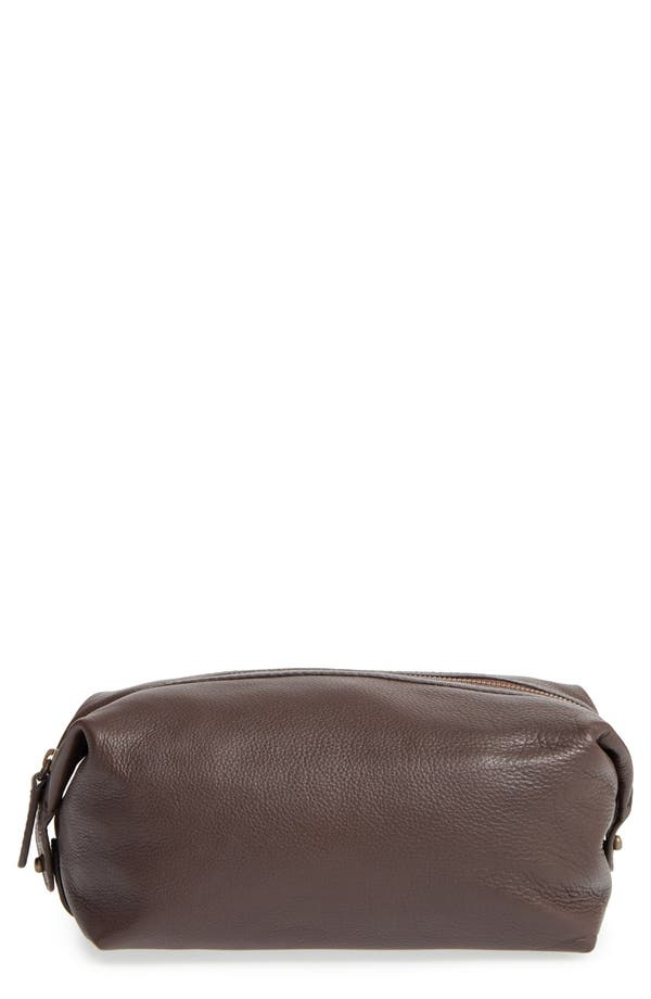 Leather Travel Kit,                             Main thumbnail 1, color,                             Brown