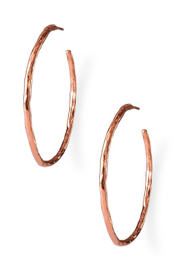 Main Image - Ippolita 'Number 3' Rosé Hammered Hoops