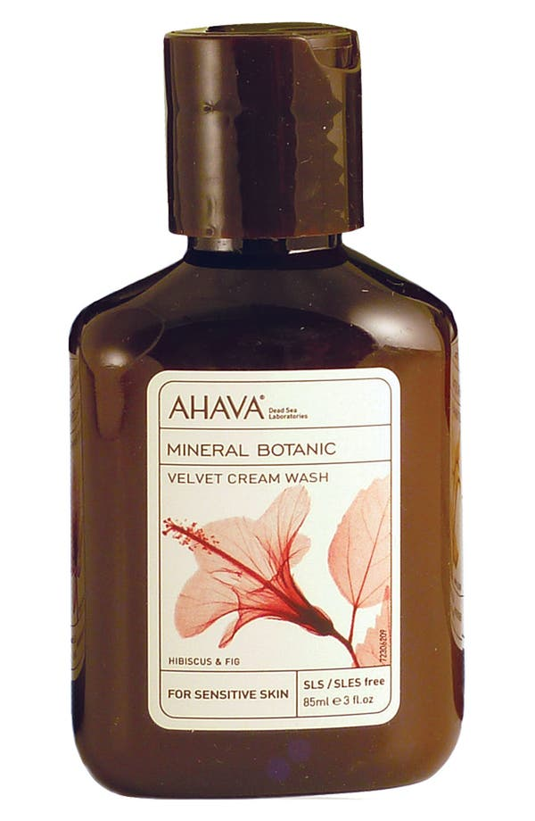 Alternate Image 1 Selected - AHAVA 'Hibiscus & Fig' Mineral Botanic Velvet Cream Wash for Very Dry Skin (Travel Size)