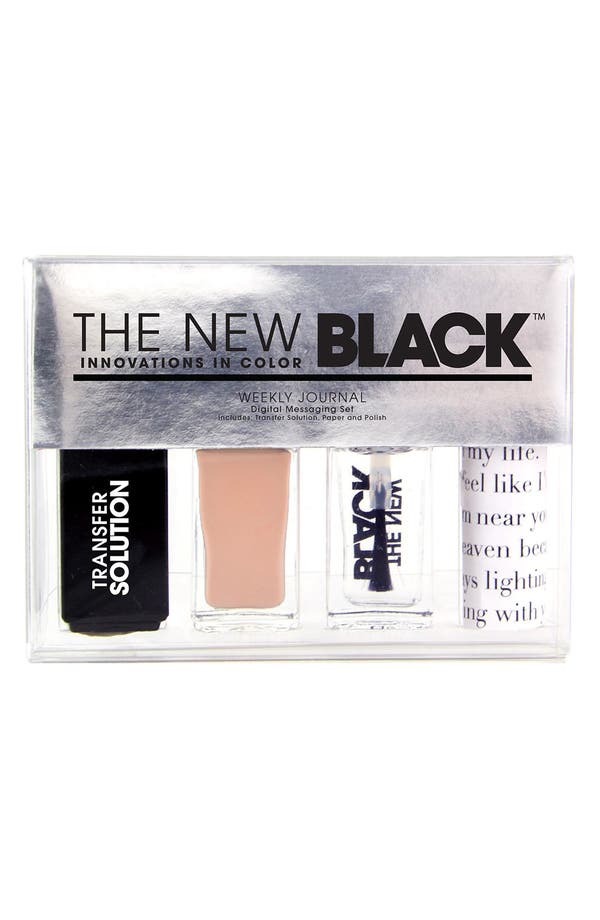Alternate Image 1 Selected - THE NEW BLACK 'Typography Collection - Weekly Journal' Nail Polish 4-Piece Set