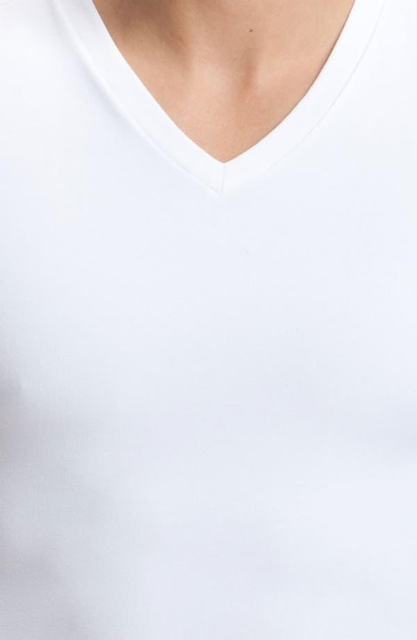 Alternate Image 2  - SPANX® Cotton Control V-Neck T-Shirt
