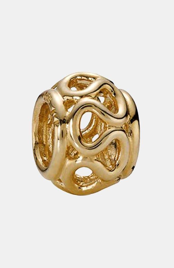 Alternate Image 1 Selected - PANDORA Intertwined Gold Charm