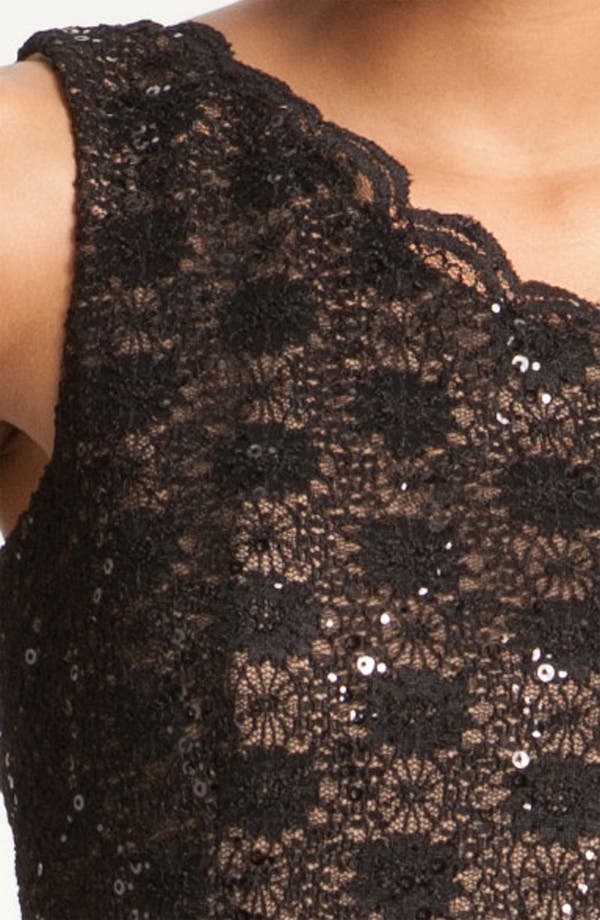 Alternate Image 4  - Alex Evenings One Shoulder Lace Sheath Dress