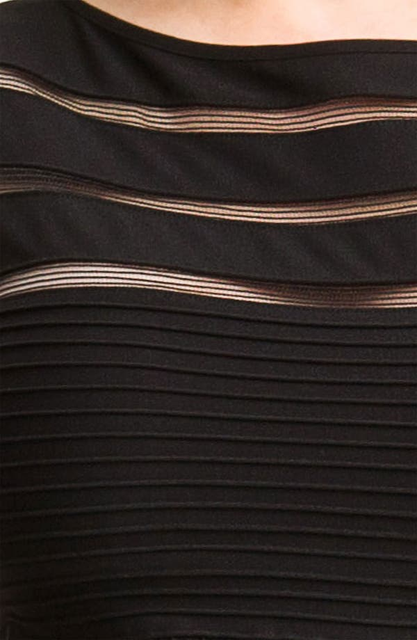 Alternate Image 2  - Tadashi Shoji Sleeveless Mesh Stripe Jersey Dress (Plus Size)