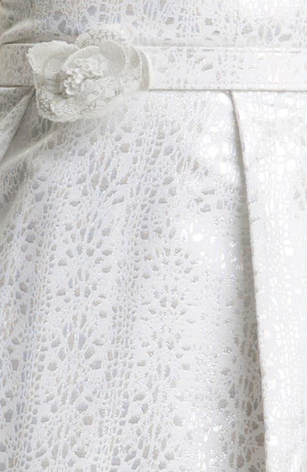 Alternate Image 3  - Theia Cap Sleeve Jacquard Fit & Flare Dress