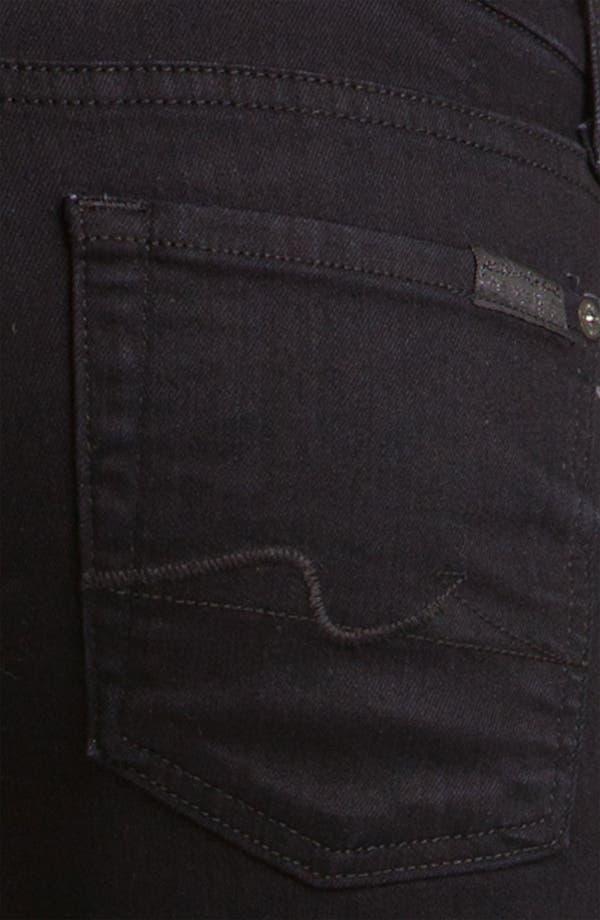 Alternate Image 3  - 7 For All Mankind® 'Kimmie' Straight Leg Jeans (Black Coal)