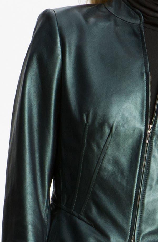 Alternate Image 3  - Lafayette 148 New York Pearlized Leather Jacket