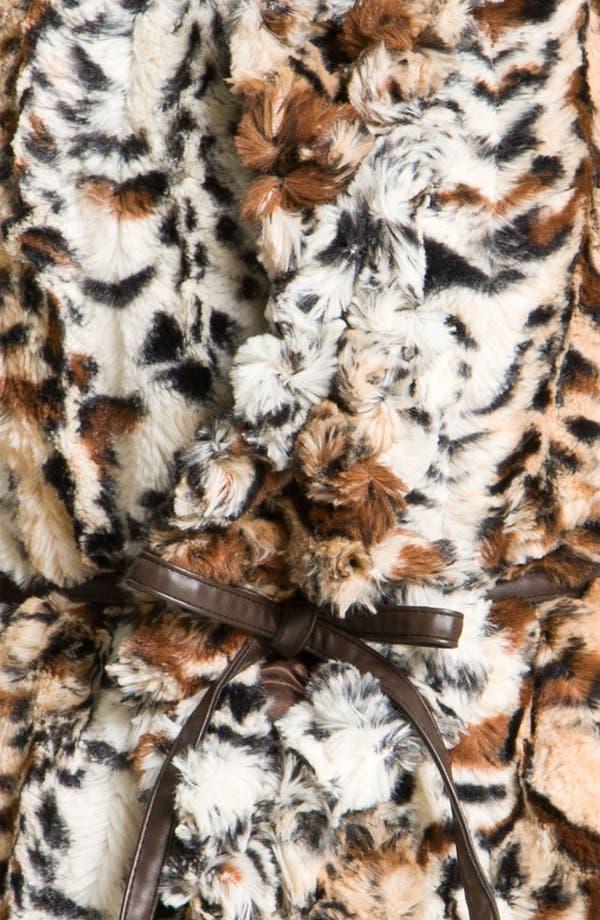 Alternate Image 3  - Damselle Faux Fur Ruffle Vest (Online Exclusive)