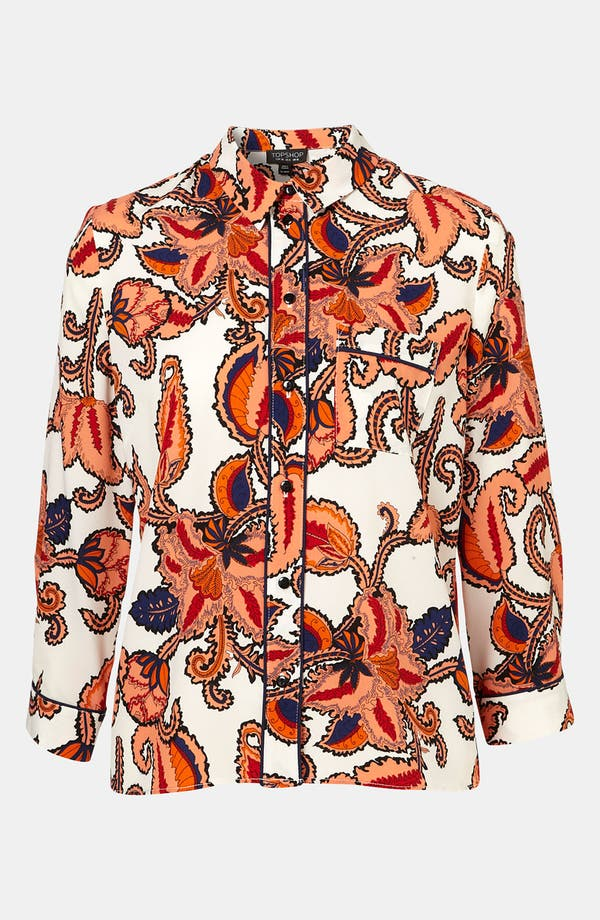 Alternate Image 1 Selected - Topshop Paisley Print Shirt