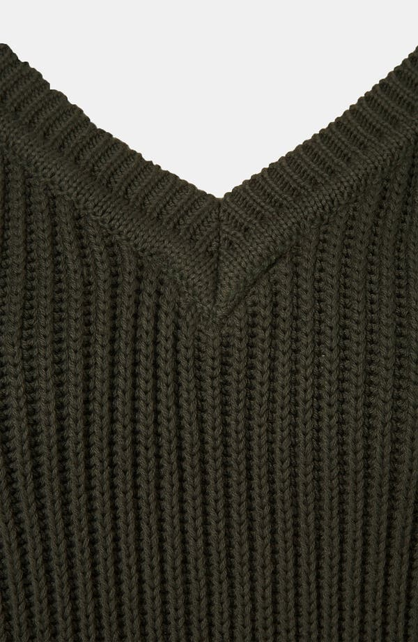 Alternate Image 3  - Topshop Boutique Ribbed V-Neck Sweater