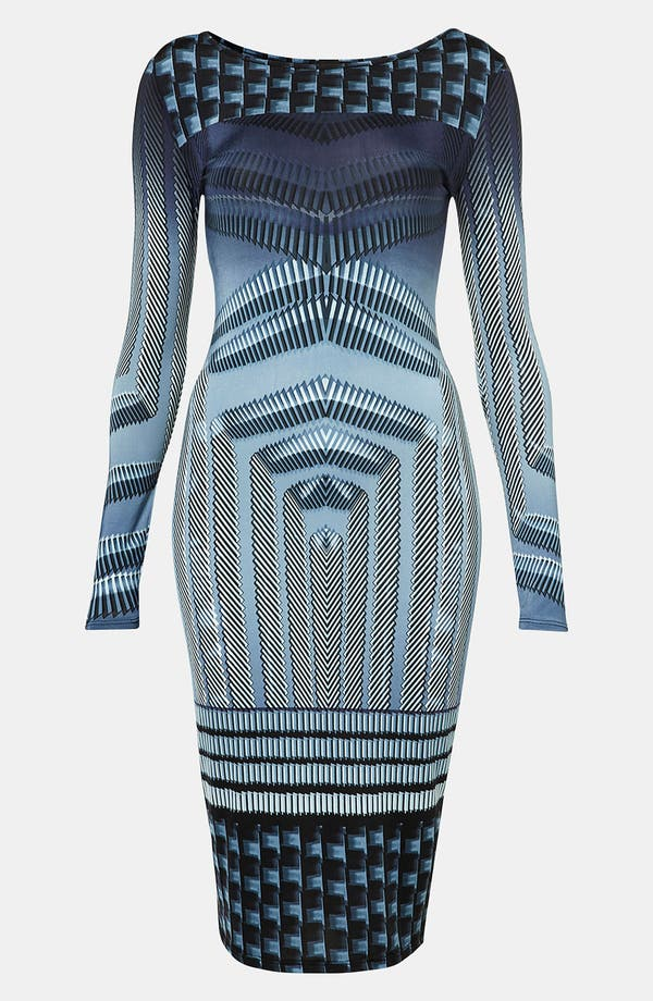 Main Image - Topshop Geo Print Body-Con Dress