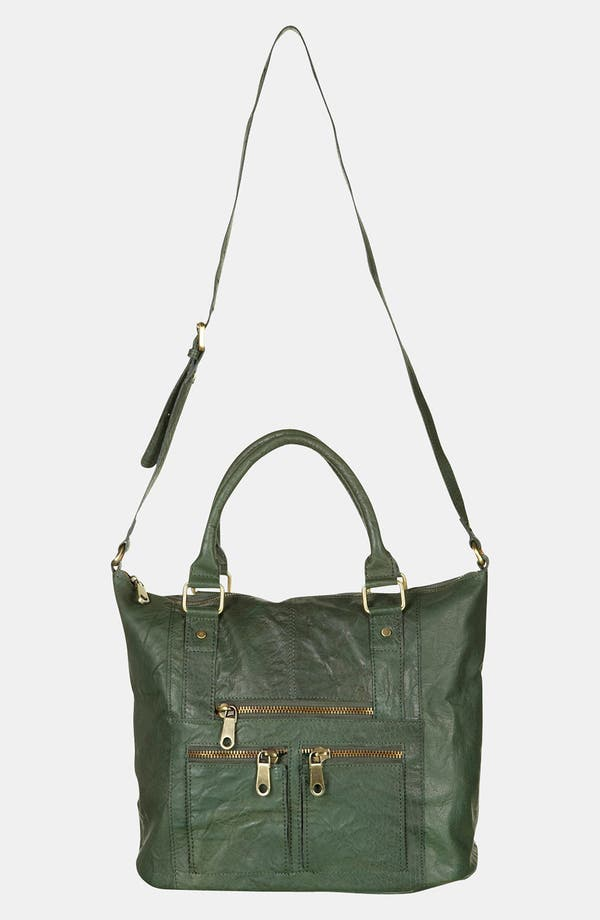Alternate Image 2  - Topshop Washed Leather Satchel