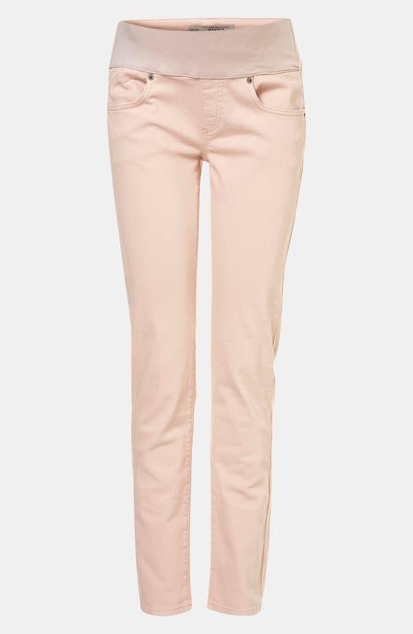 Alternate Image 1 Selected - Topshop 'Baxter' Colored Skinny Maternity Jeans (Mink)