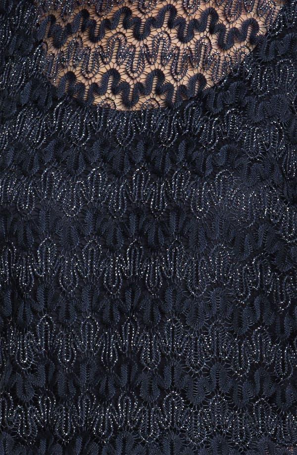 Alternate Image 3  - Xscape Split Sleeve Metallic Lace Dress