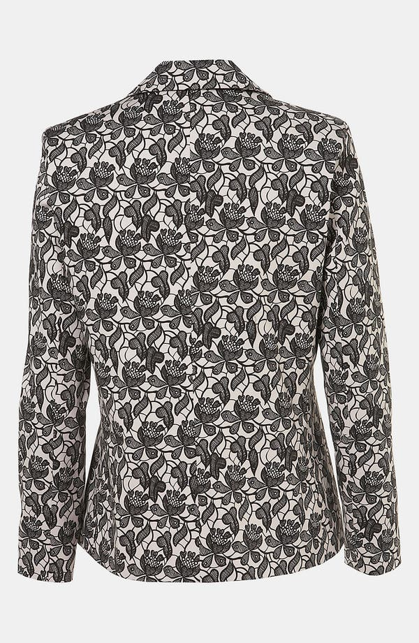 Alternate Image 2  - Topshop Lace Blazer