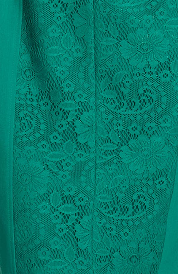 Alternate Image 3  - Adrianna Papell Lace Inset Crepe Dress
