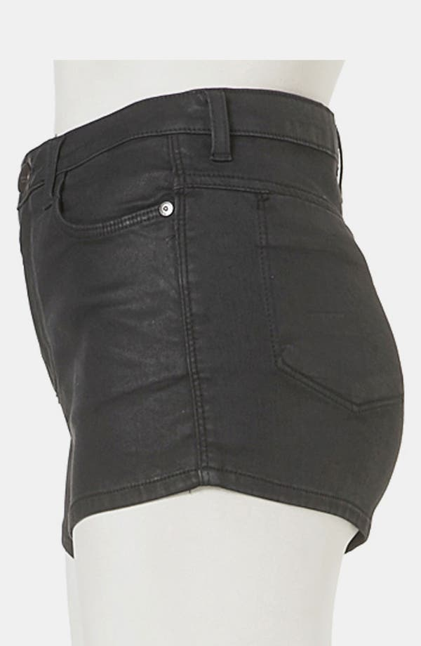 Alternate Image 4  - Topshop Moto 'Suri' Coated Denim Hot Pants
