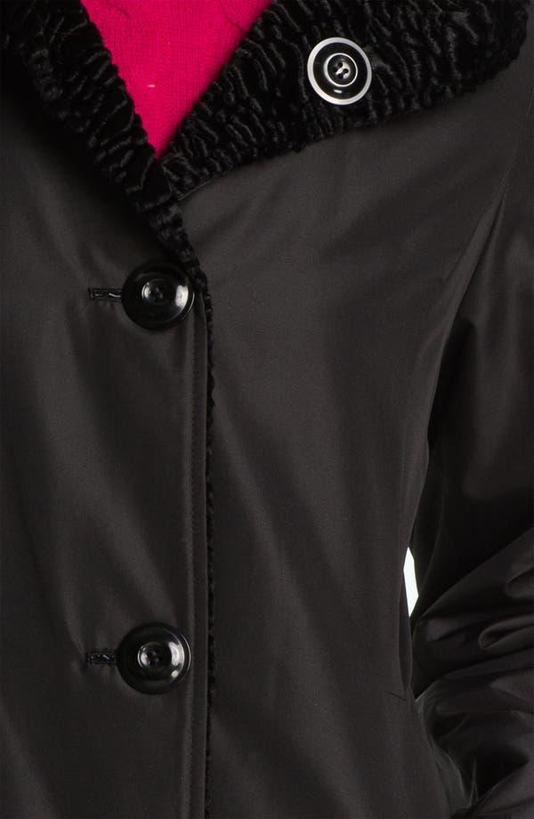 Alternate Image 4  - Ellen Tracy Reversible Faux Persian Lamb Fur Coat (Regular & Petite) (Nordstrom Exclusive)
