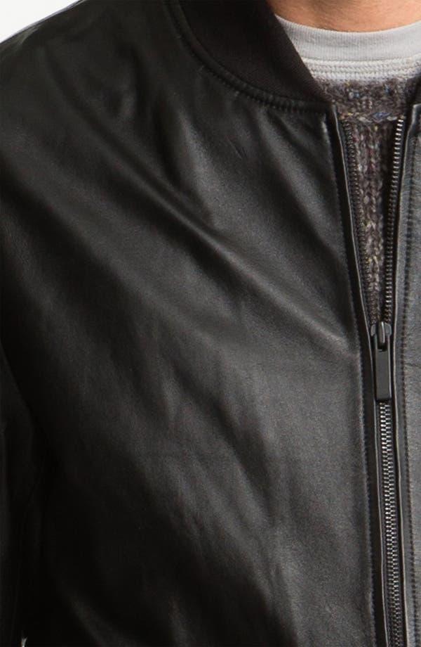 Alternate Image 3  - life/after/denim 'Full Monti' Leather Baseball Jacket