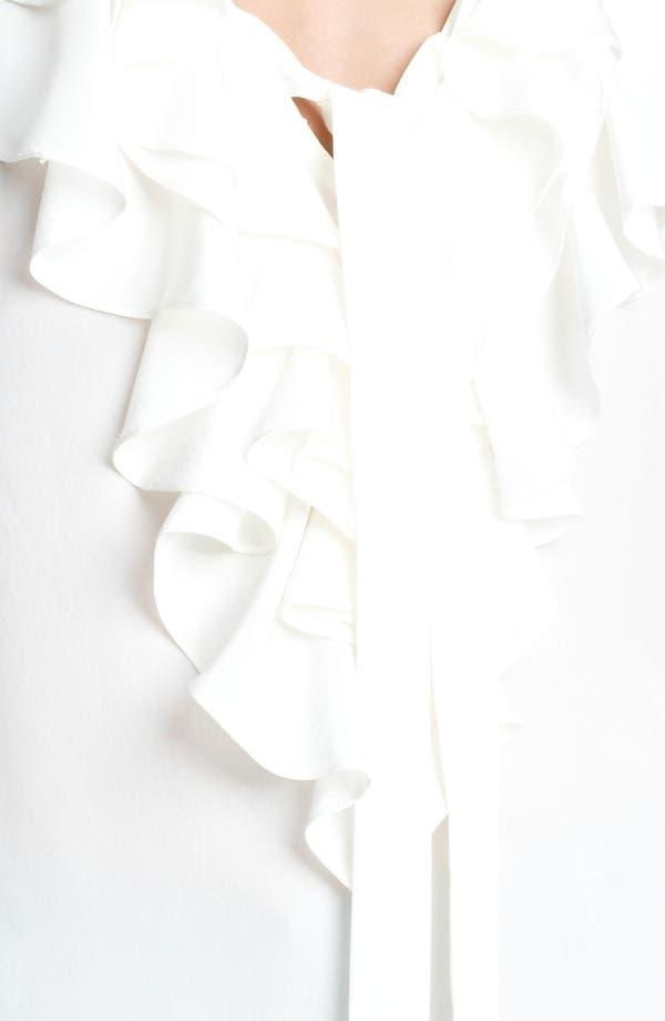 Alternate Image 3  - Oscar de la Renta Cascade Collar Crêpe de Chine Blouse