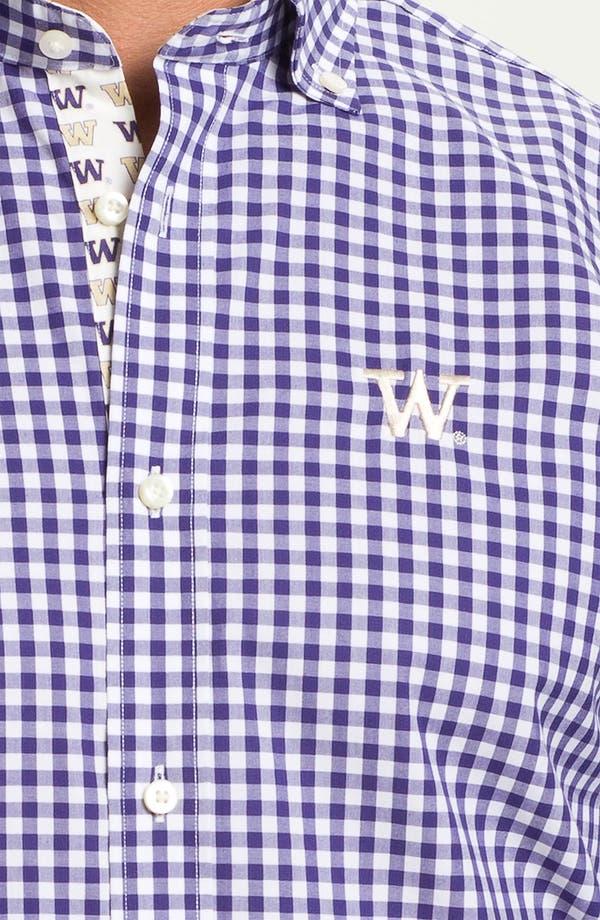 Alternate Image 3  - Thomas Dean 'University of Washington' Gingham Sport Shirt