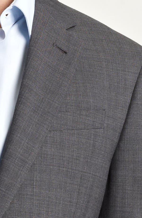 Alternate Image 5  - Armani Collezioni Trim Fit Wool Blend Suit