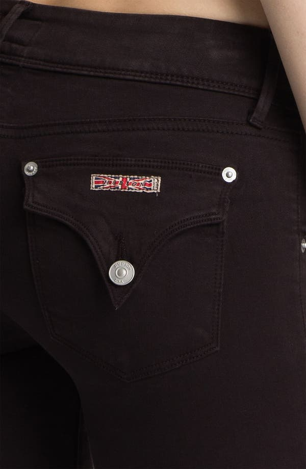 Alternate Image 3  - Hudson Jeans 'Beth' Coated Baby Bootcut Jeans (Brown)