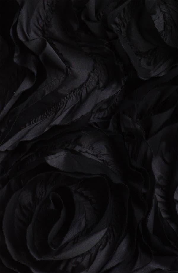 Alternate Image 3  - Adrianna Papell Strapless Rosette Detail Velvet Dress