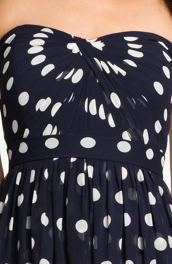 Alternate Image 4  - Jenny Yoo Strapless Polka Dot Convertible Chiffon Dress (Online Only)