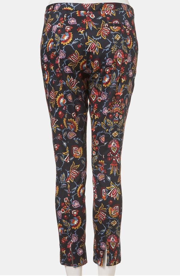 Alternate Image 2  - Topshop Tapestry Print Skinny Pants (Petite)