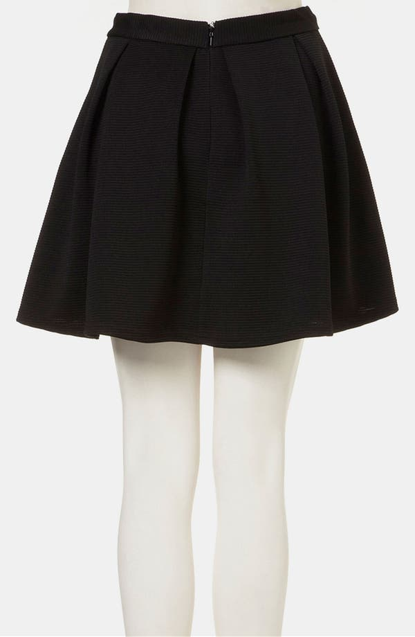 Alternate Image 2  - Topshop Pleated Ribbed Skater Skirt