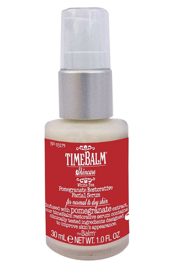 Main Image - theBalm 'TimeBalm®' Pomegranate Restorative Facial Serum