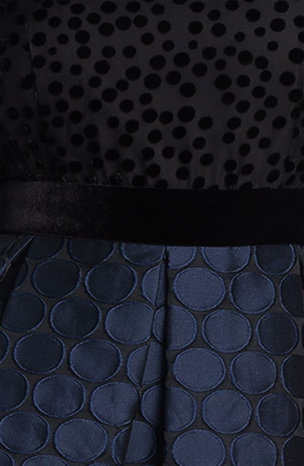 Alternate Image 3  - Taylor Dresses Burnout Bodice Jacquard Fit & Flare Dress