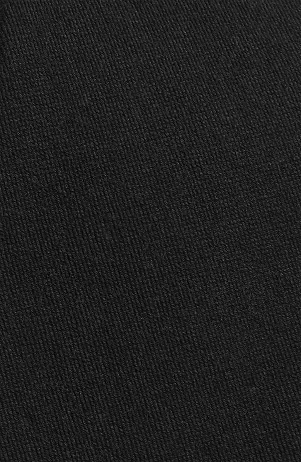 Solid Wool Blend Skinny Tie,                             Alternate thumbnail 2, color,                             Black