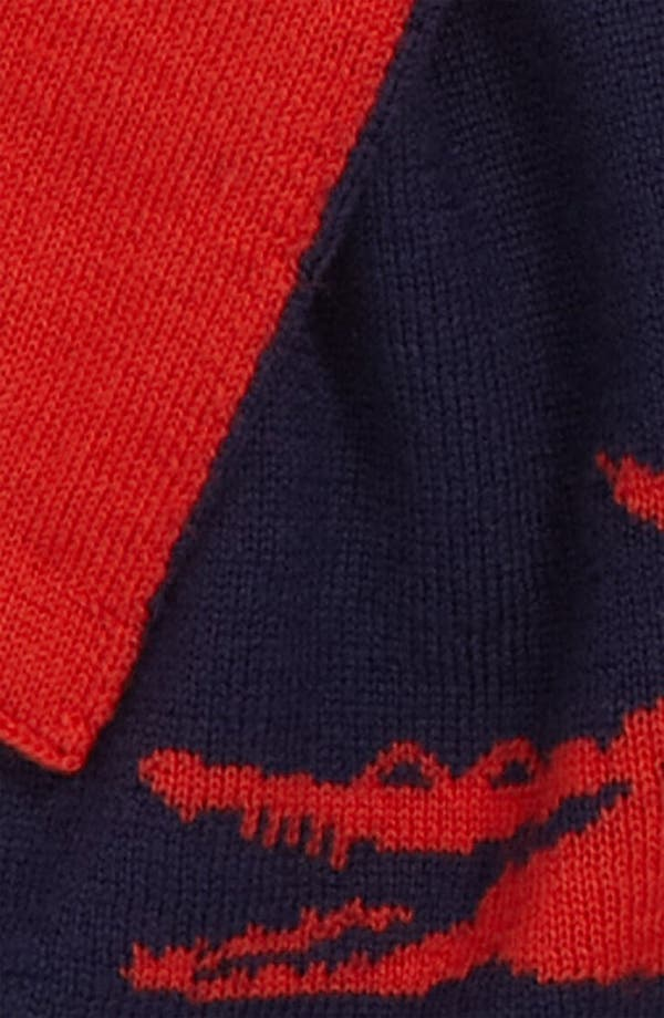 Alternate Image 2  - Lacoste 'Intarsia' Wool Scarf