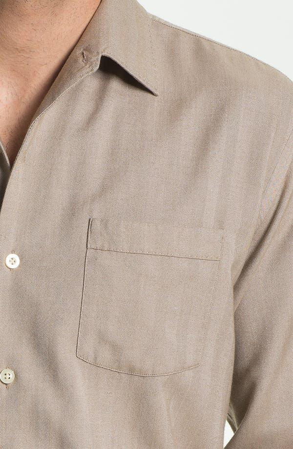 Alternate Image 3  - Tommy Bahama 'Harbor Island' Silk & Cotton Sport Shirt (Big & Tall)