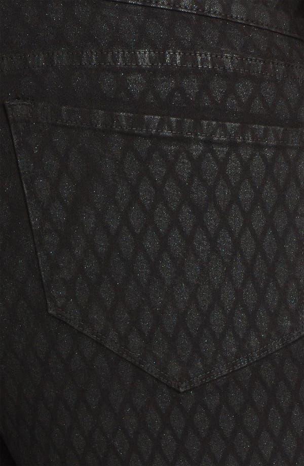 Alternate Image 3  - NYDJ 'Sheri - Geometric Glitter' Skinny Denim Jeans (Plus)
