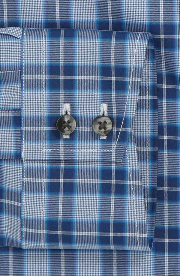 Alternate Image 2  - Thomas Pink Slim Fit Blue Collection Dress Shirt
