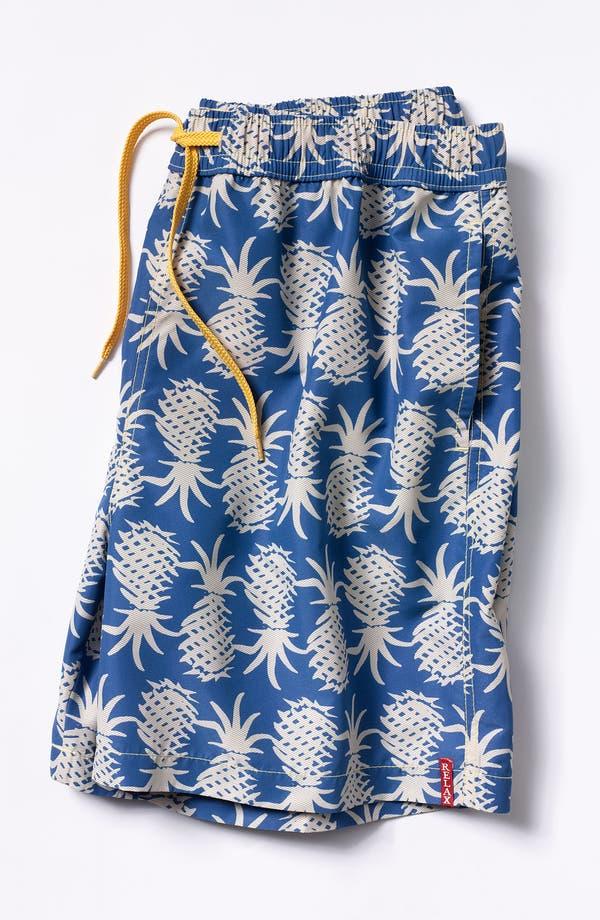 Alternate Image 4  - Tommy Bahama Relax 'Pineapple Upside Down' Swim Trunks