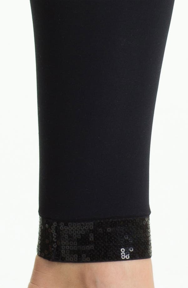 Alternate Image 2  - DKNY Sequined Footless Tights