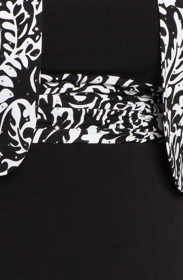 Alternate Image 3  - Eliza J Sleeveless Empire Knit Dress & Bolero (Plus)