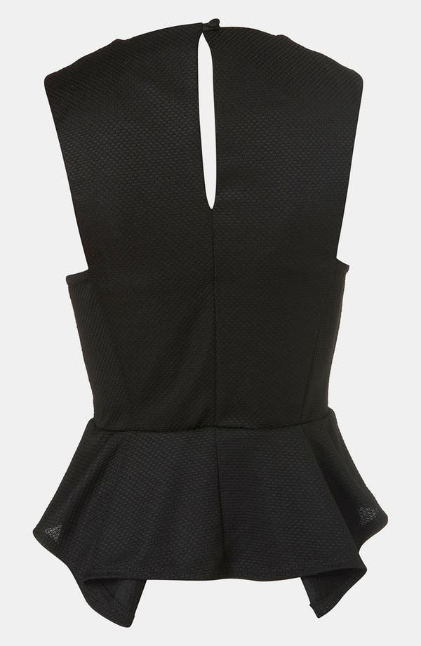 Alternate Image 2  - Topshop Embellished Collar Peplum Top