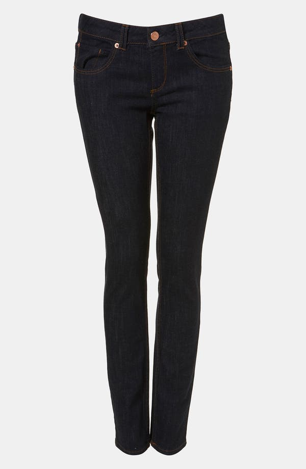 Main Image - Topshop Moto 'Baxter' Skinny Jeans (Indigo) (Petite)